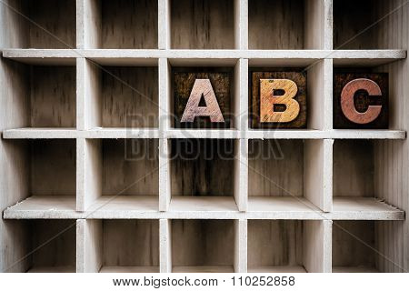 Abc Concept Wooden Letterpress Type In Draw