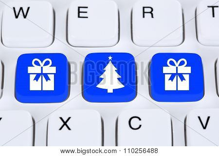 Christmas Gifts Gift Online Shopping Ordering Internet Shop Concept