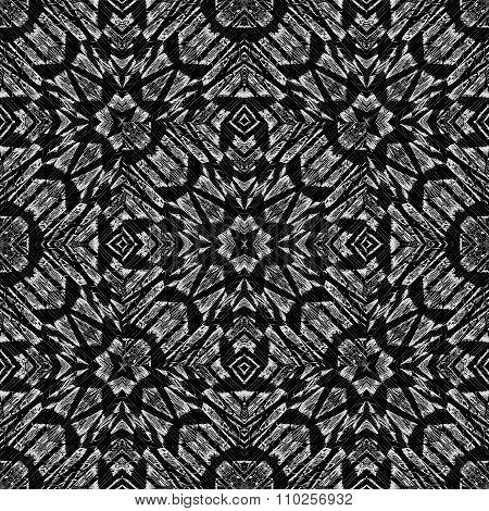 Black And White Ethnic Geometric Pattern