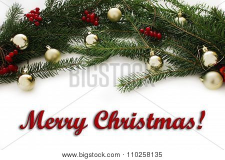 Christmas frame for greeting card design.
