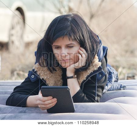 Woman With Ebook