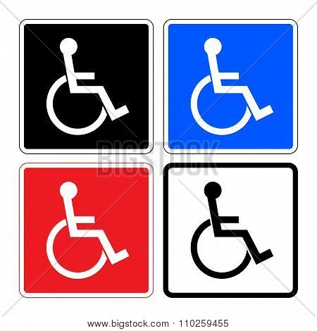 Disabled Set Signs