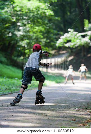 Kids Rollerblading