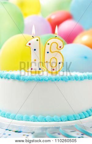 Cake Celebrating 16Th Birthday