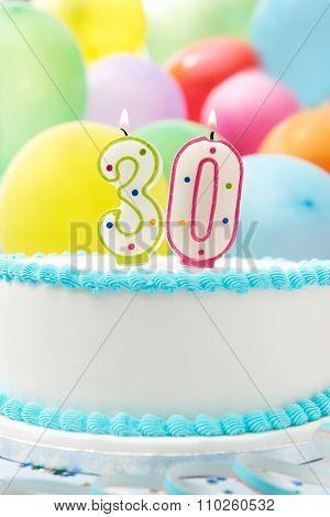 Cake Celebrating 30Th Birthday