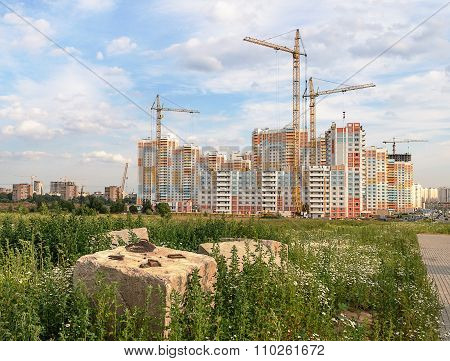 Construction Of Beautiful Residential Complex
