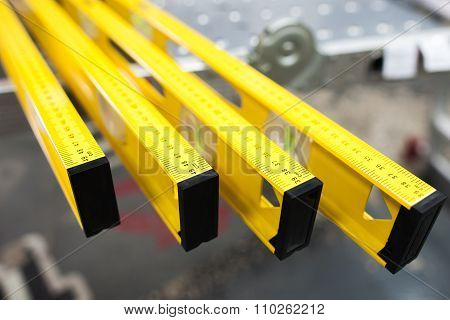 Construction Level Ruler Display On Tools Store
