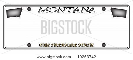 Montana License Plate