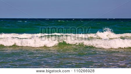 Sea Wave With Foam And Spray