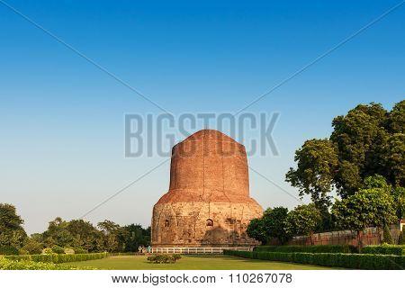 Sarnath Stupa Is Public Buddhism Landmark