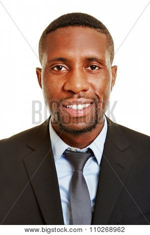 Head shot of smiling african business man