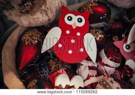 Christmas Owl Decorations Hand Made
