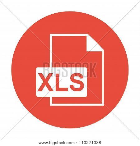 Xls Icon. Flat Design Style.