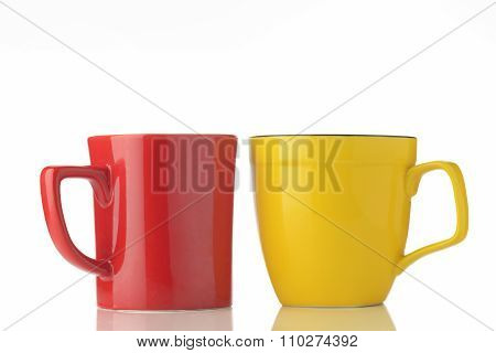 Red And Yellow  Mugs