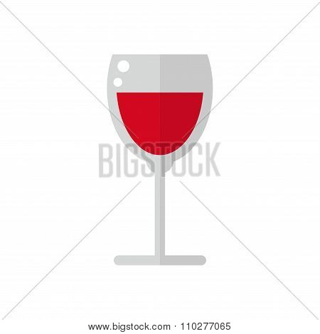Wine glass isolated icon on white background.