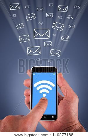 Touching Email on Smartphone Screen