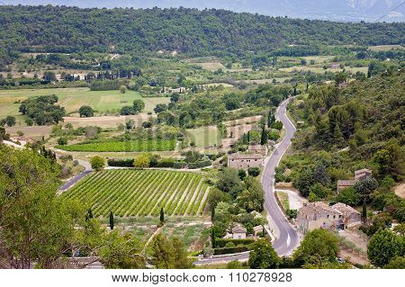 Aerial View Of The Region Of Provence In France