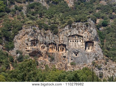 Tombs of the ancient Lycia rulers  in Turkey