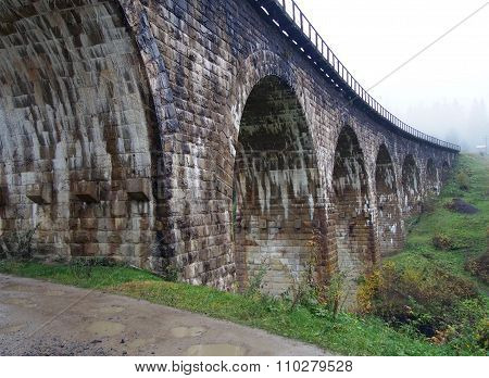 An operating viaduct XIX ages, Ukraine