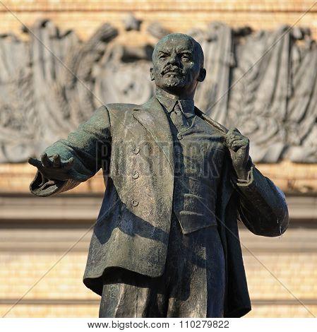 Lenin Monument In Orel, Russia