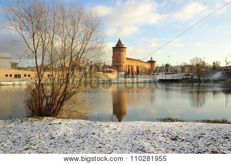 Kolomna, Russia - November, 2013: Kolomna Kremlin And Its Reflection In The River