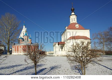 Kolomna, Russa - April, 2014: Temple Of The Resurrection In The Town Of Kolomna. View Of Historical