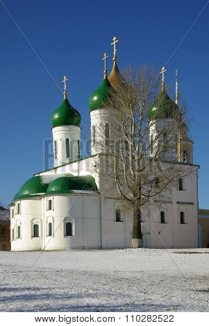Kolomna, Russa - April, 2014: Assumption Cathedral In Kolomna. View Of Historical Center