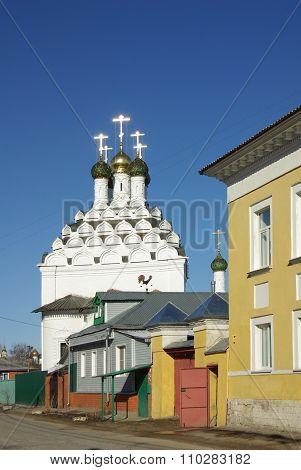 Kolomna, Russia - April, 2014: The Nikola Posad Church Of The Resurrection In Kolomna, Moscow Region