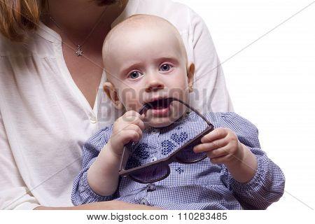 Baby Girl With Cutting Teeth.