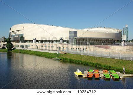 Kolomna, Russia - Jule, 2014:  Speed Skating Center