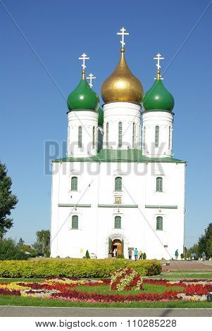 Kolomna, Russia - Jule, 2014: The Assumption Cathedral In Kolomna