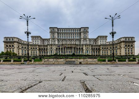 Bucharest, Romania - October 25, 2015:  Palace Of Parliament, Also Known As