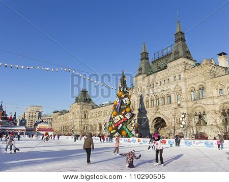 Kremlin Christmas Tree In Moscow