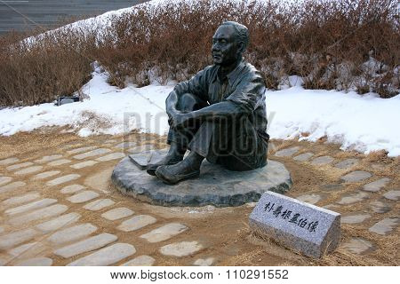 Park, Soo-Keun painter. Monument. South Korea.
