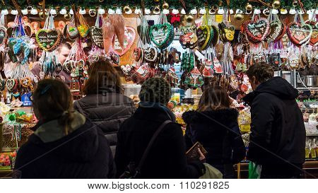 Heidelberg, Germany - Circa November 2015 - Christmas Market In Heidelberg