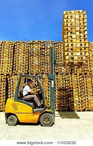 Forklift Cargo Load