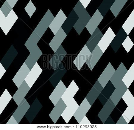 Seamless Mosaic Pattern With Slanting Rectangles. Vector.
