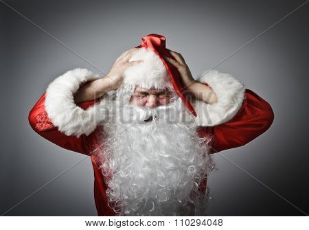 Frustrated Santa Claus