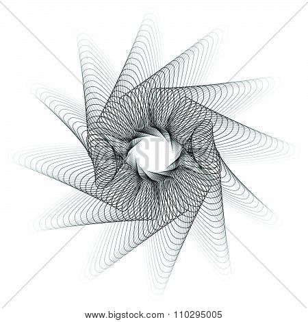 Abstract Spirograph Pattern / Texture On White. Vector Art.