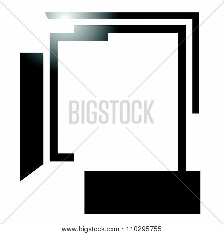 Abstract Angular, Edgy Shape On White. Vector Art.