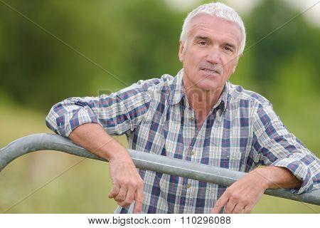 gray man outdoor