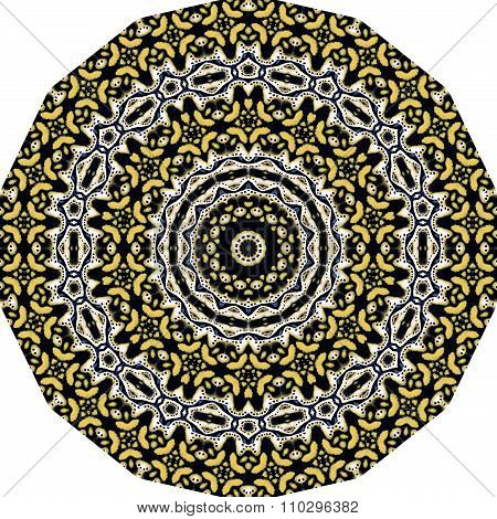 Beautiful vintage kaleidoscopic picture  can be used as interior pattern or clothes pattern.