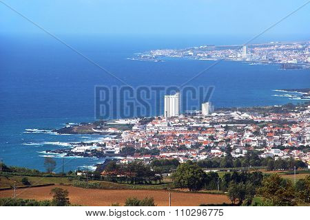 View Of Lagoa And Ponta Delgada, Sao Miguel Island, Azores