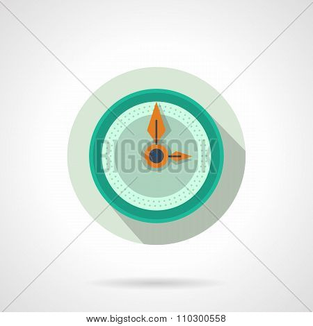 Flat color wall clock vector icon