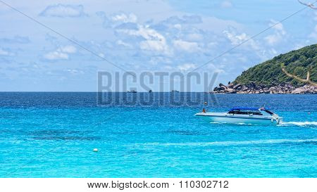 Speed Boat On Sea In Thailand