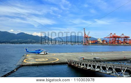 Helipad in  Vancouver's Port