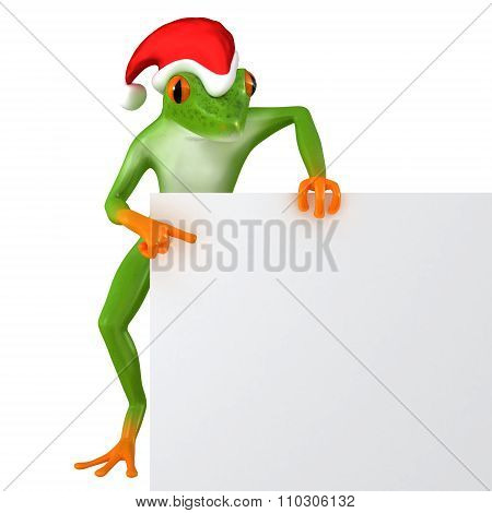 Tropical Christmas frog