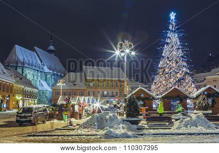 Christmas Fair In Council Square, Brasov, Romania
