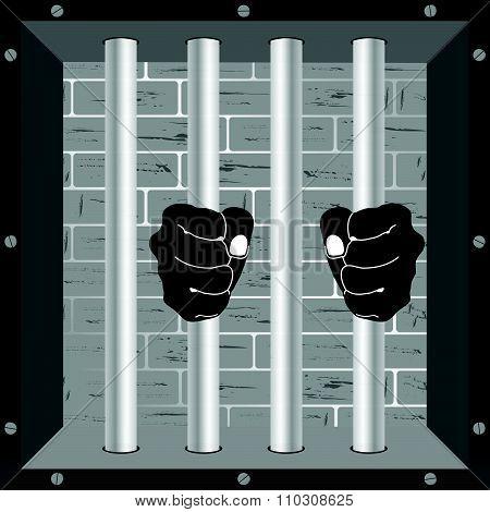 Prison Ball Violence Vector