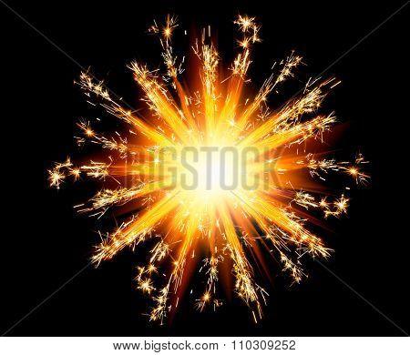 christmas sparklers star with shiny glare